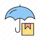 box, protect, protection, umbrella icon