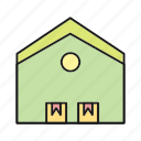 home, house, storage, warehouse icon
