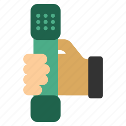 call, communication, connection, dial, hand, phone, telephone icon