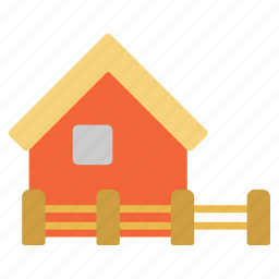 address, building, farm, garage, home, house, warehouse icon