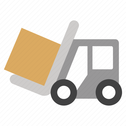 delivery, fork lift, forklift truck, lifter, logistics, transport, warehouse icon