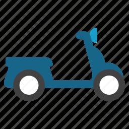 bike, chopper, moped, motor scooter, motorbike, motorcycle, vespa icon