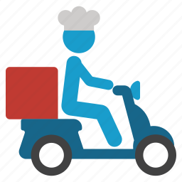 bike, courier, delivery, motorbike, pizza, shipping, transportation icon