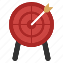 aim, arrow, bullseye, goal, point, target, targeting icon