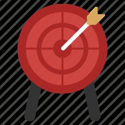 aim, arrow, bullseye, goal, point, target, targeting icon