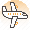 airplane, delivery, flight, logistics, package box, shipping, transport icon