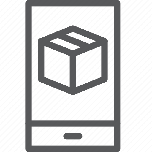 app, box, closed, delivery, gift, mobile, package, phone icon