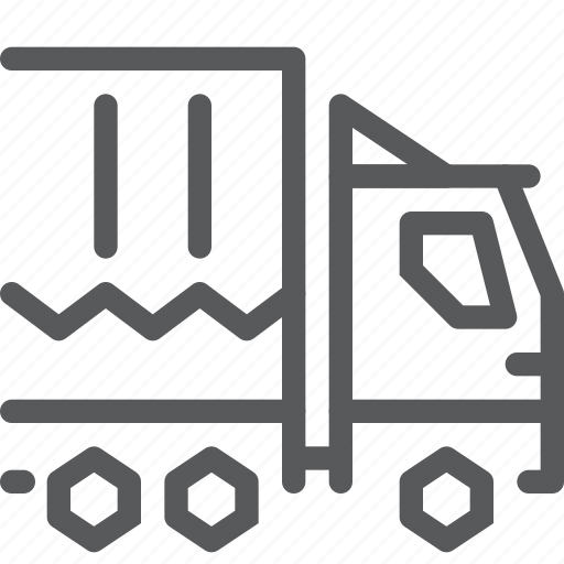 delivery, distribute, logistics, shipping, transport, truck, vehicle icon