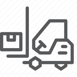 delivery, distribute, forklift, logistics, shipping, transport, truck, vehicle icon