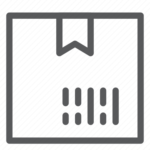 barcode, box, closed, delivery, gift, logistics, package, shipping icon