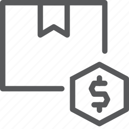box, cash, currency, delivery, dollar, gift, money, package icon