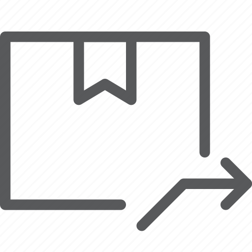 arrow, box, closed, delivery, forward, gift, package, send icon