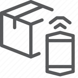 app, box, closed, delivery, gift, mobile, package, shipping icon