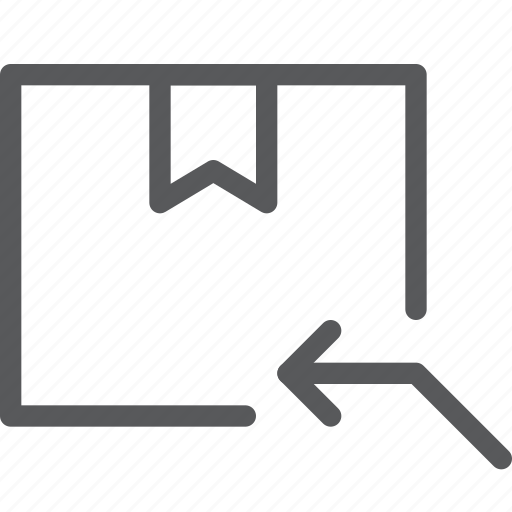 arrow, box, closed, delivery, gift, package, reply, return icon