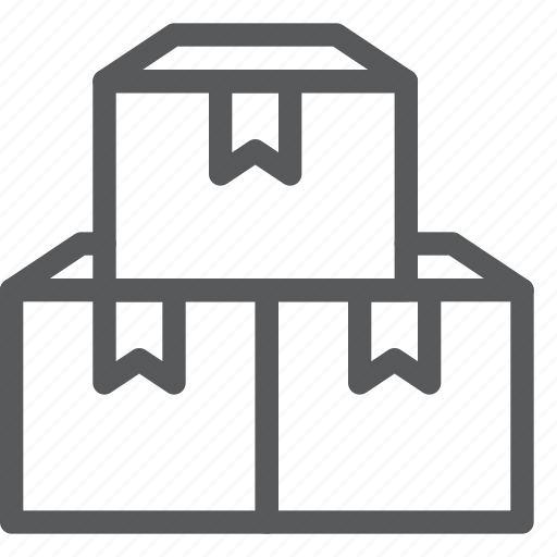 box, closed, delivery, gift, logistics, package, shipping, stack icon