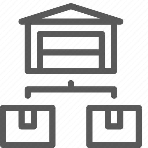base, box, building, delivery, shipping, stack, storehouse, warehouse icon
