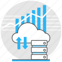 analytic, big, cloud, data, logistic, storage, technology icon