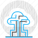 cloud, compute, logistic, online, storage, technology icon