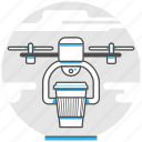 air, carry, delivery, drone, logistic, order, technology icon