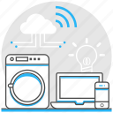 electric appliance, industrial, internet, iot, logistic, technology, things icon