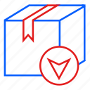 box, delivery, logistic, navigation, package, parcel icon