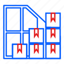 boxes, delivery, godown, logistic, parcel, storage, warehouse icon