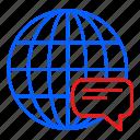 call, chat, globel, international, logistic, transport, travel icon