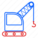 crain, export, logistic, parcel, transport icon