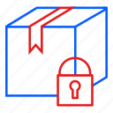 box, delivery, lock, security icon
