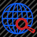 globe, globel, international, logistic, search icon
