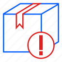 box, delivery, logistic, notice, package, parcel icon