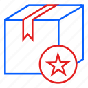 container, delivery, favorite, mail, star icon