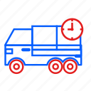 delivery, pickup, shipping, truck icon