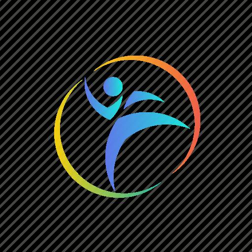 branding, business, center, colorful, company, gradient, health, logo, sport icon