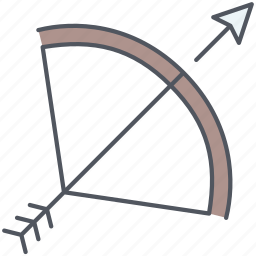 arrow, bow, kingdom, royalty, spear, war, weapon icon