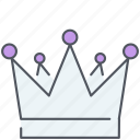 crown, king, kingdom, monarch, prince, royal, ruler icon