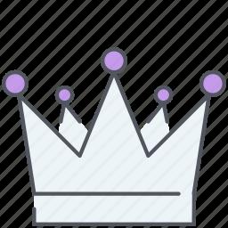 crown, king, kingdom, monarch, prince, royal, ruler icon