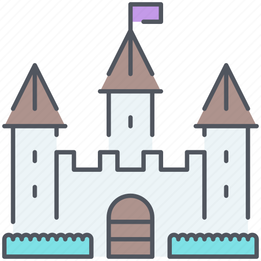 castle, disney, fantasy, fortress, kingdom, medieval, royalty icon