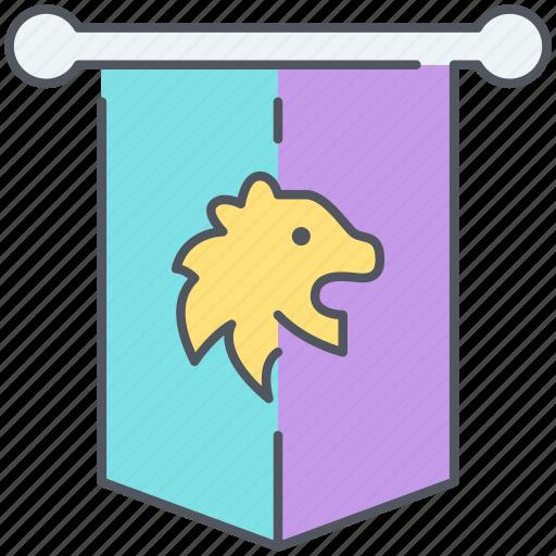badge, coat of arms, emblem, flag, kingdom, lion, nation icon