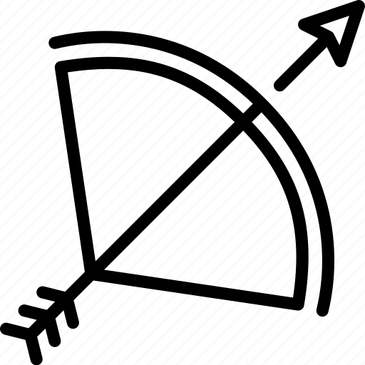 arrow, attack, bow, kingdom, medieval, war, weapon icon