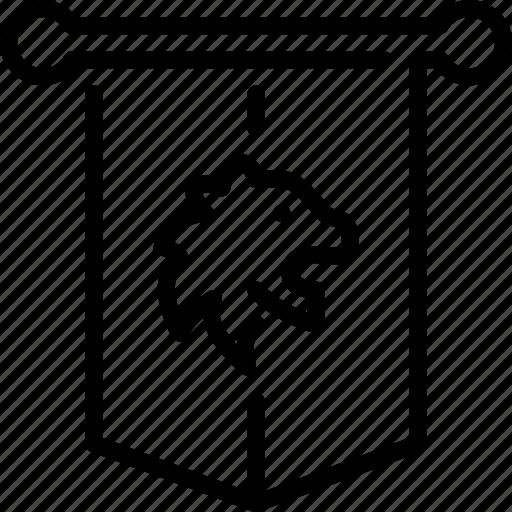 Amblem, banner, flag, kingdom, lion, medieval, royalty icon - Download on Iconfinder