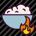 burn, calories, food, metabolism icon