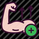 gain, arm, biceps, growth, muscle