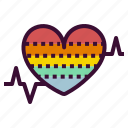 heart, monitor, rate, zone icon