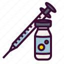 injection, insulin, medical, medicinal, syringe icon