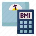 bmi, calculator, exercise, obesity, weight icon