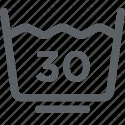clothing care, gentle wash, laundry, low, washable icon