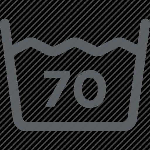 clothing care, laundry, machine, temperature, wash, washable icon