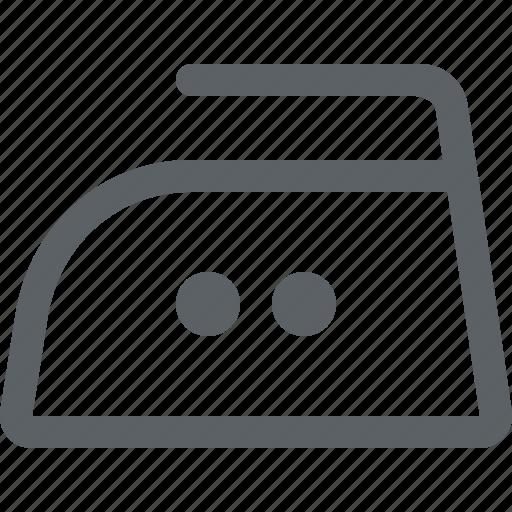clothing care, iron, ironed, laundry, medium temperature icon