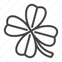 casino, lottery, luck, four, clover, leaf icon